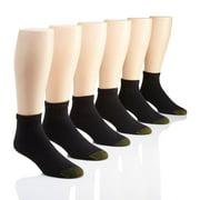 Men's Gold Toe Cotton Quarter Extended 656PE (6 Pairs)