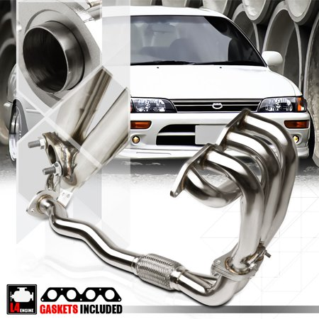 Stainless Steel Exhaust Header Manifold for 93-97 Toyota Corolla AE102 7A-FE 1.8 94 95 96 (95 toyota corolla gas tank)