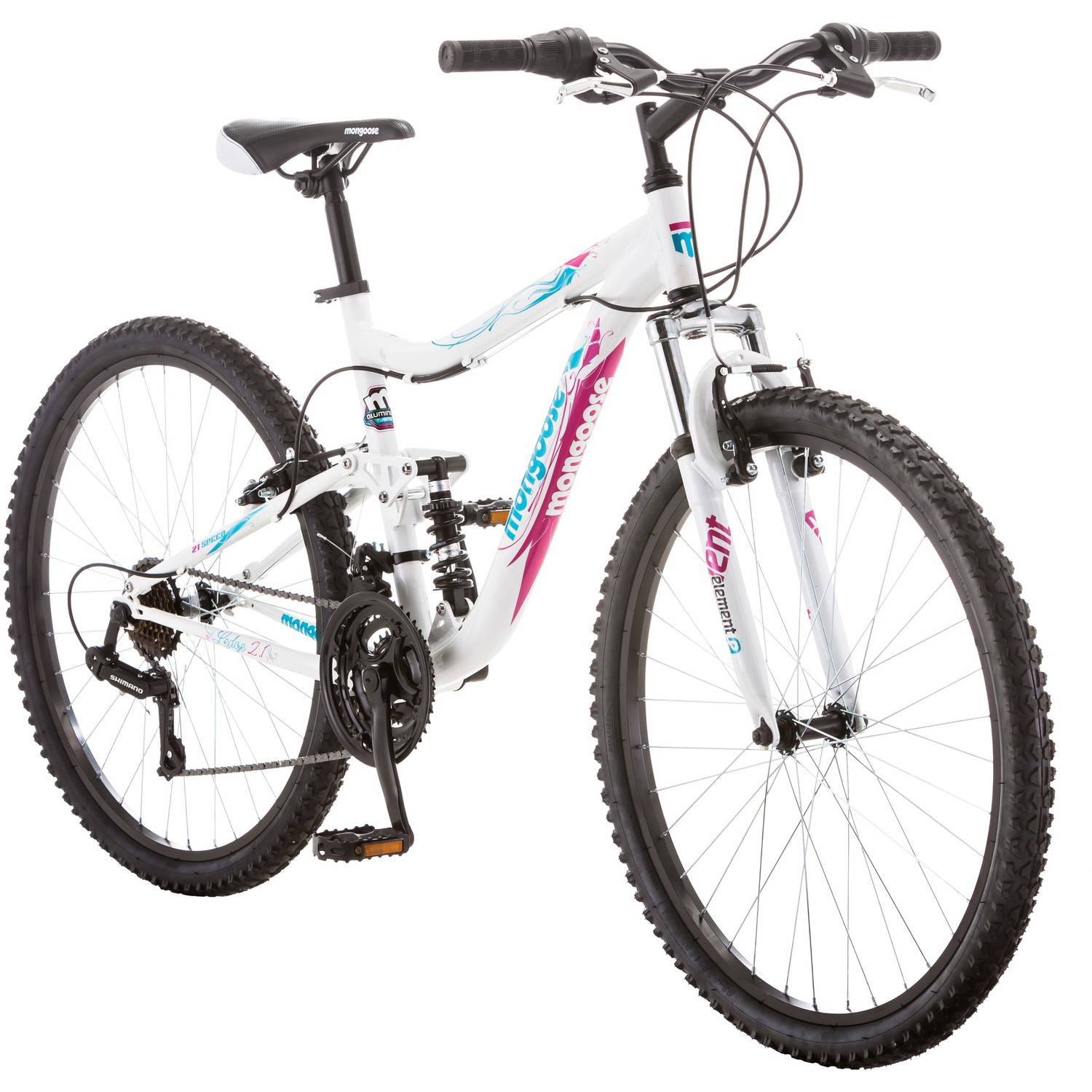 "26"" Mongoose Ledge 2.1 Women's Mountain Bike, White Purple by Pacific Cycle"