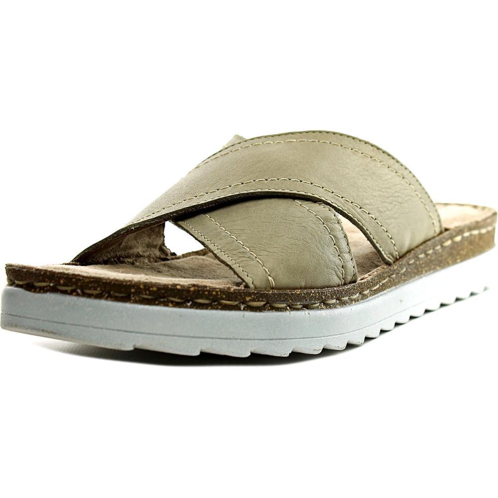 Bella Vita Fasano Women N S Open Toe Leather Gray Slides Sandal by Bella Vita