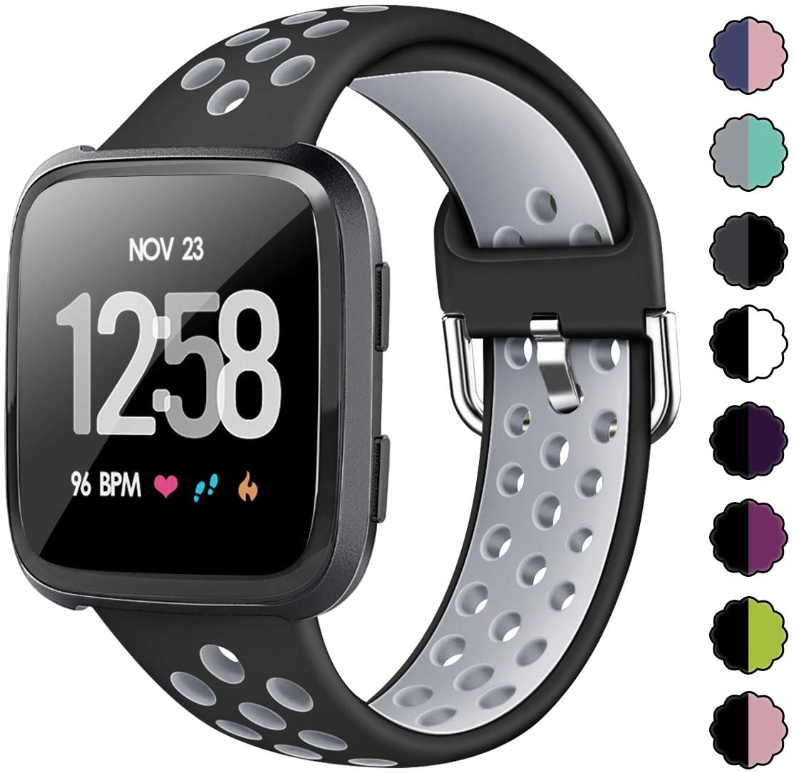 Sport Bands For Fitbit Versa 2 Versa Lite Versa SE  Silicone Waterproof 3 PackN
