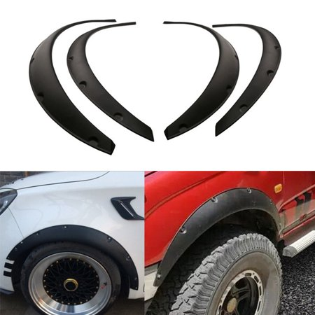 (4Pcs Universal Flexible Car Fender Flares Extra Wide Body Wheel Arches)
