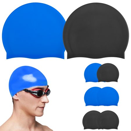8811fd8d5fff6 TSV Swim Cap Cover Ears for Long Hair Silicone Swimming Hat Unisex Adult  Kids Swimming Pool Caps Reduce Water Intake Makes Your Hair Clean -  Walmart.com