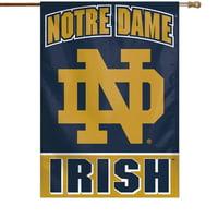 "Notre Dame Fighting Irish WinCraft 28"" x 40"" ND Logo Single-Sided Vertical Banner"
