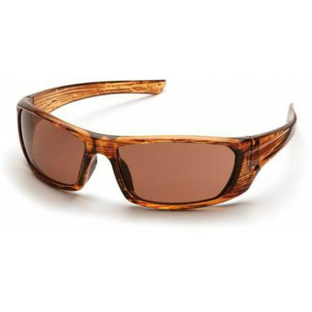Pyramex Outlander Safety Glasses, Caramel Mixed Frame/Sandstone Bronze Lens (Unique Caramel Color Glass)