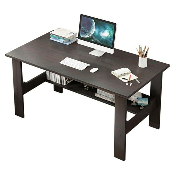 Details about  /Wooden Computer Desk w//Shelf Home Office Apartment Dorm Room School Furniture