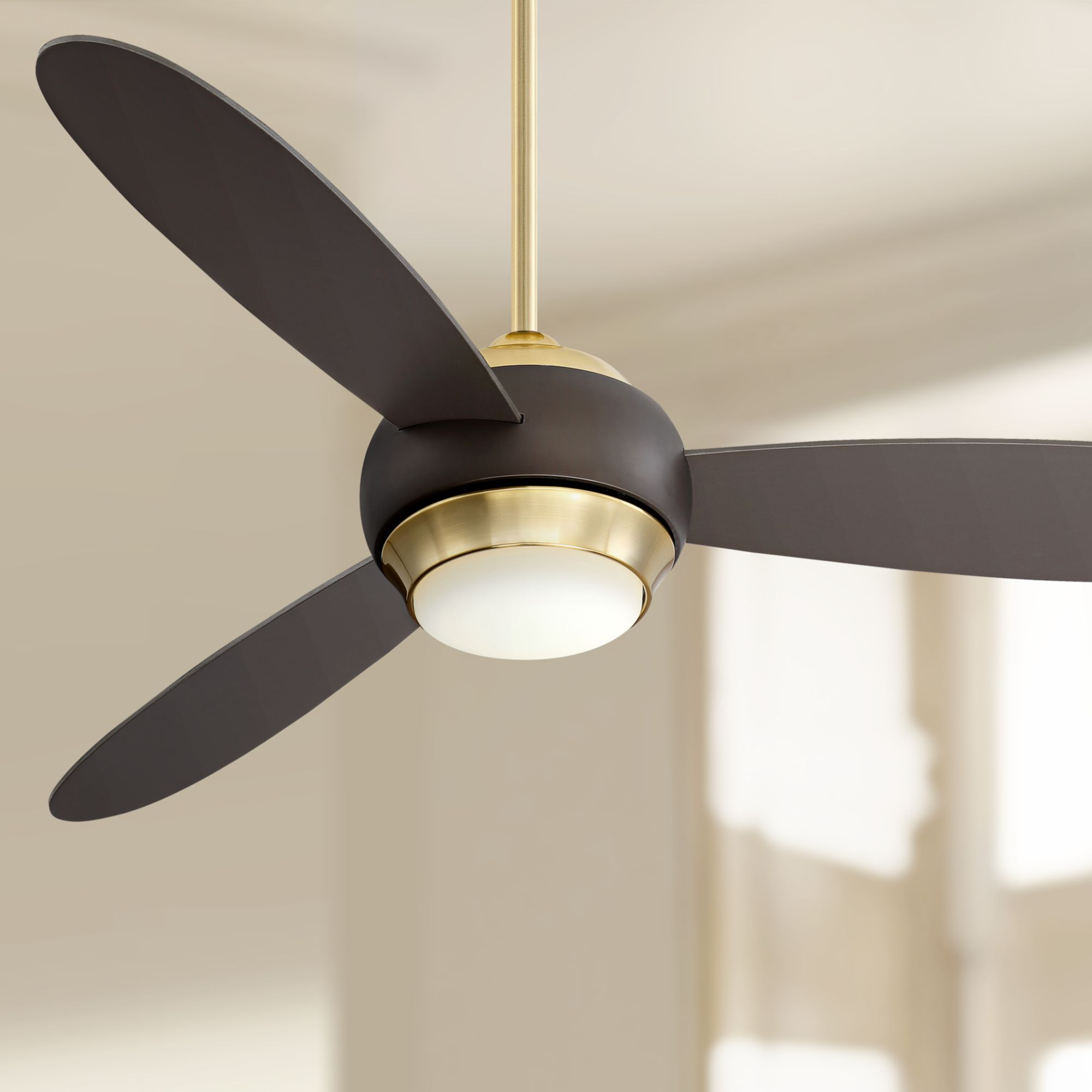 54 Casa Vieja Modern Ceiling Fan With Light Led Dimmable Bronze And Soft Brass For Living Room Kitchen Bedroom Dining Walmart Com Walmart Com