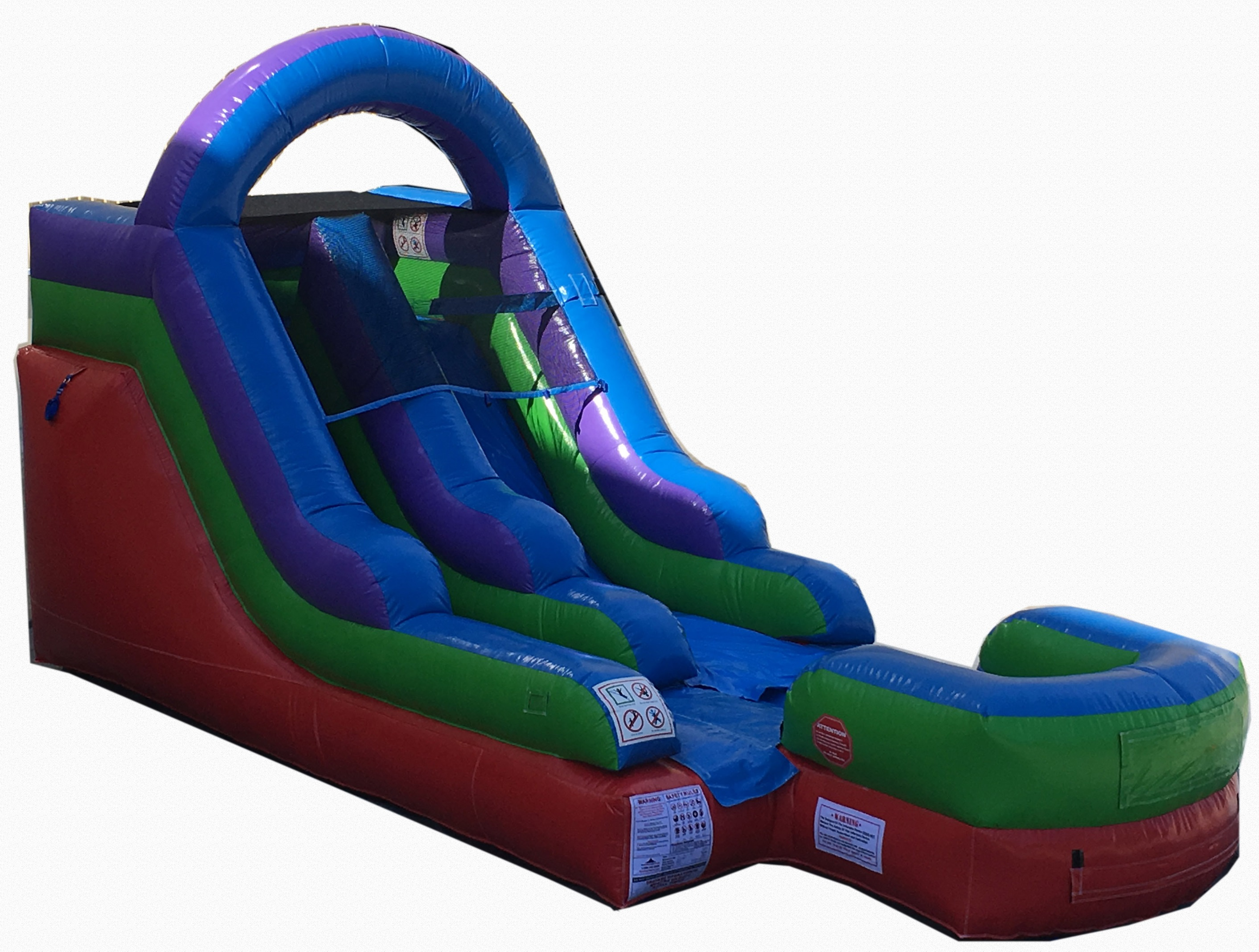 Pogo 12' Retro Commercial Inflatable Waterslide with Blower Kids Bouncy Jumper by Pogo Bounce House