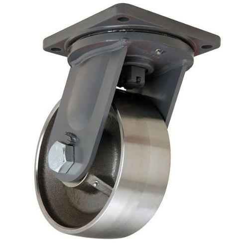 Hamilton Plate Caster,Swivel,Forged Steel,10 in,18,000 lb, S-MD-104FST-4SL