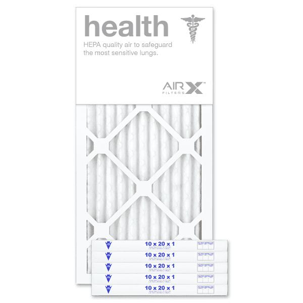 "10"" X 20"" X 1"" MERV 13 Pleated Furnace Filter, 6-Pack"