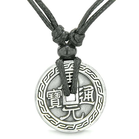 Amulet Lucky Coin Double Sided Magic Courage Dragon Energy Base Charm Pendant Necklace Energy Saving Outdoor Pendant
