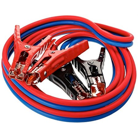 SUPER HEAVY DUTY 500 amp 6 gauge No Tangle Battery Booster cables 12 feet with FREE travel case Jumper