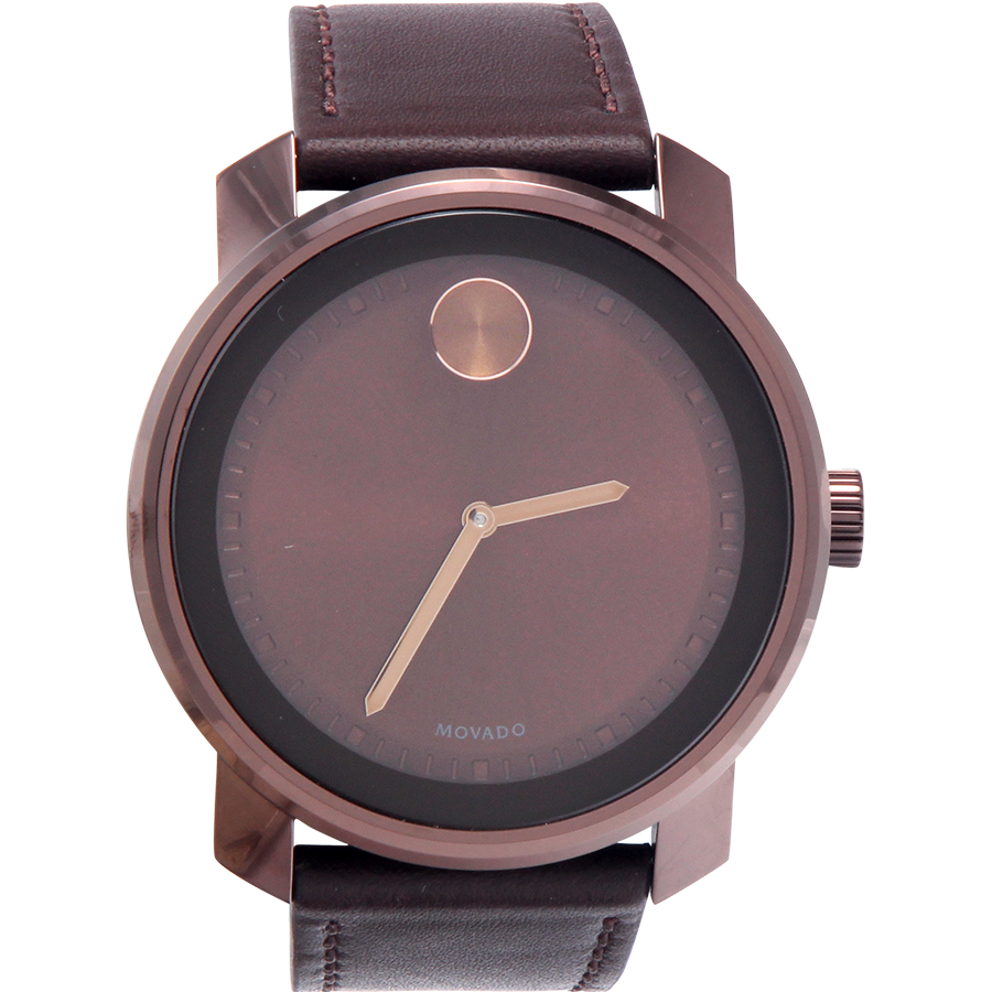 Movado Bold Leather Mens Watch 3600377