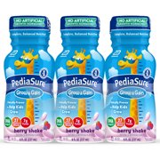 PediaSure Grow & Gain Kids Nutritional Shake, with Protein, DHA, and Vitamins & Minerals, Berry, 8 fl oz, 6 Count
