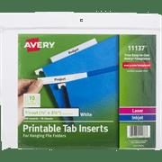avery printable tab inserts 100 0 ct walmart com