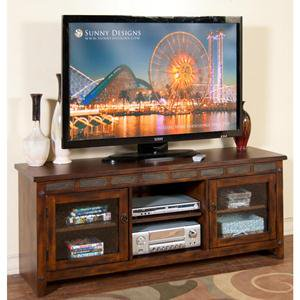 Sunny Designs Santa Fe TV Console In Dark Chocolate – (TV Console Only)