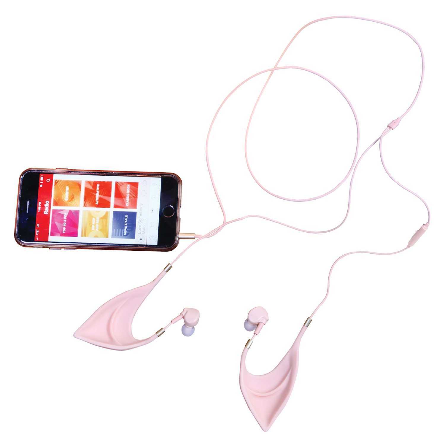 Elf or Fairy Style Ears Earbuds - Standard Headphone Jack With In-Line Controls