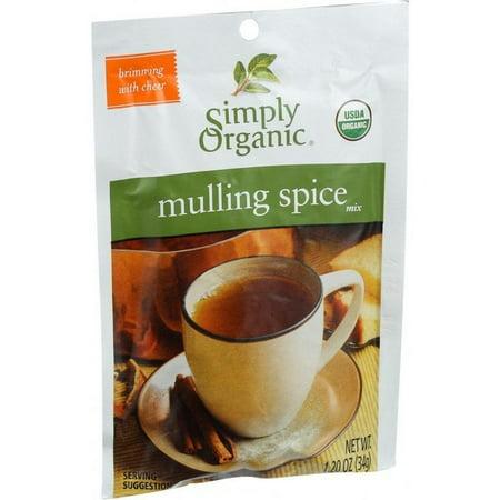 Simply Organic Mulling Spice - Organic - Gluten Free - 1.2 Oz - pack of 8