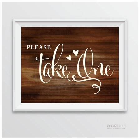Please Take Just One Halloween Sign (Please Take One Rustic Wood Wedding Party)
