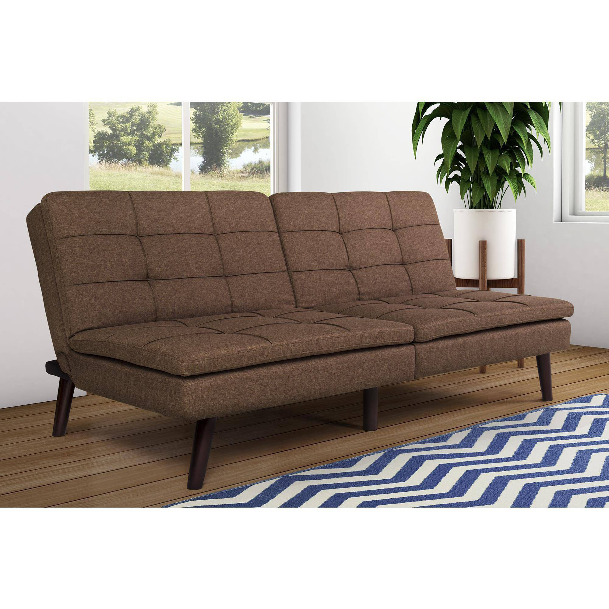 DHP Premium Westbury Linen Pillowtop Futon, Brown by Dorel Home Products