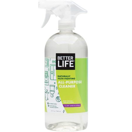 Better Life Natural All Purpose Cleaner, Clary Sage & Citrus, 32