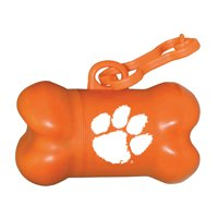 Clemson Tigers Bone-Shaped Pet Bag Dispenser - No Size
