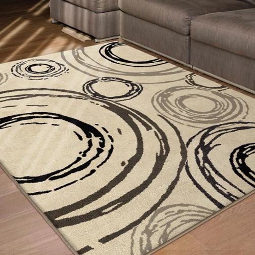 "Carolina Weavers  Finesse Collection Whirlwind Beige Area Rug - 7'10"" x 10'10"""