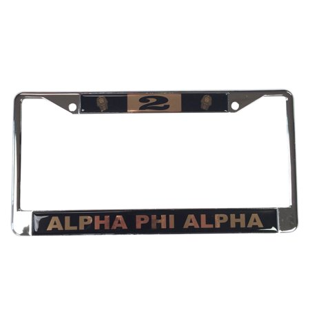 Alpha Phi Alpha #2 Line Number Silver License Plate Frame - Walmart.com