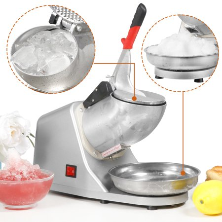 ZENY 300W Electric Ice Crusher Shaver Machine Snow Cone Maker Shaved Ice 143 lbs (A Snow Cone Machine)