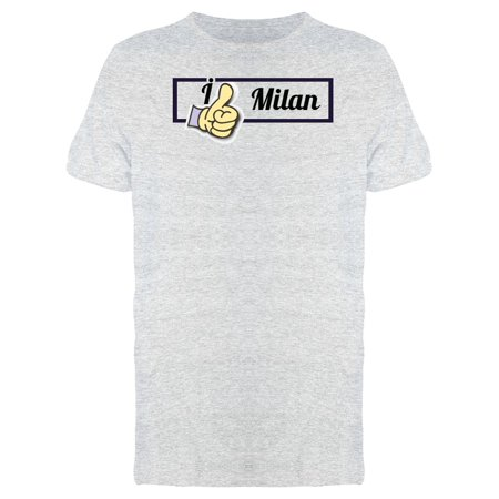 Milan Home Shirt - I Like Milan Thumbs Up Tee Men's -Image by Shutterstock