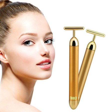 ZEDWELL Slimming Face Gold Vibration Facial Beauty Roller Massager Stick Lift Skin Tightening Wrinkle Stick Bar Face Skin Care