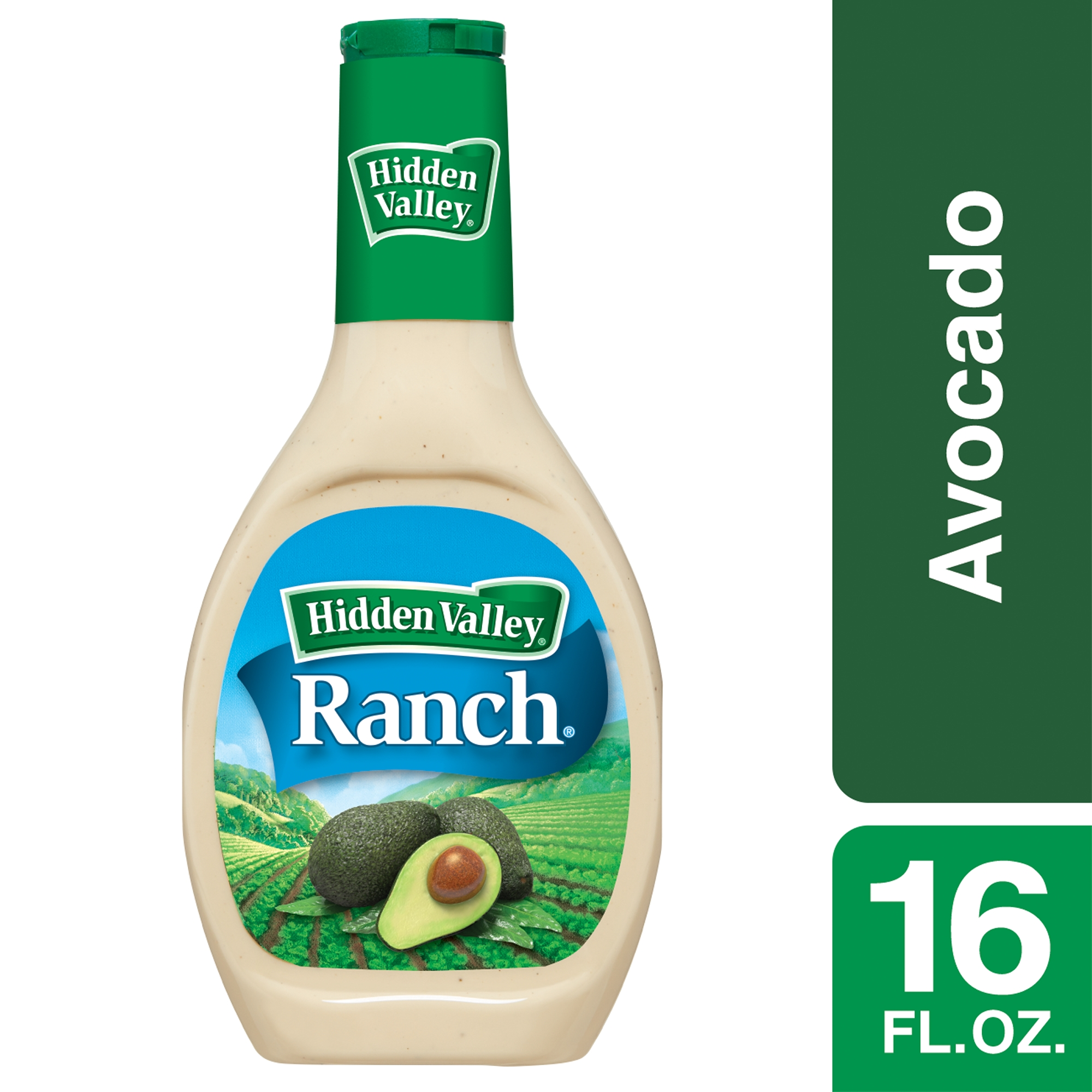 Hidden Valley Avocado Ranch Salad Dressing & Topping, Gluten Free - 16 oz Bottle