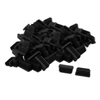 13 x 38mm Plastic Rectangle Ribbed Tube Inserts Furniture Glide Chair 60pcs