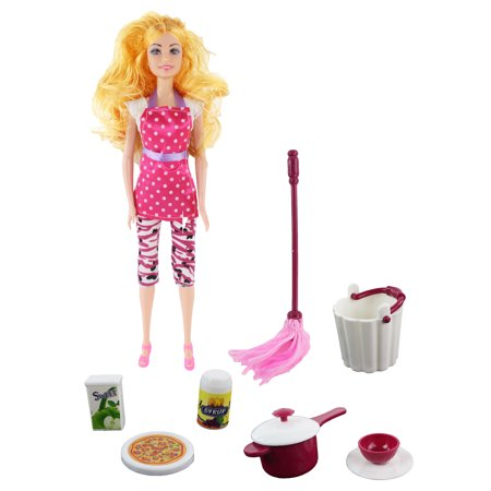Kitchen Tools Set Doll, Tons of Accessories Included! 11.5
