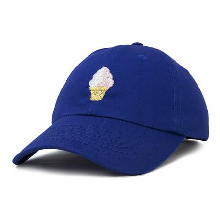 - DALIX Soft Serve Ice Cream Hat Cotton Baseball Cap in Royal Blue