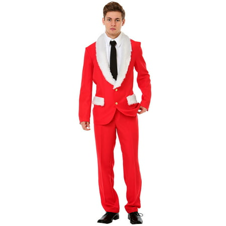 Boo! Inc. Magnificent Mr. Claus Christmas Suit | Perfect for Halloween or Christmas - Morph Suits For Sale