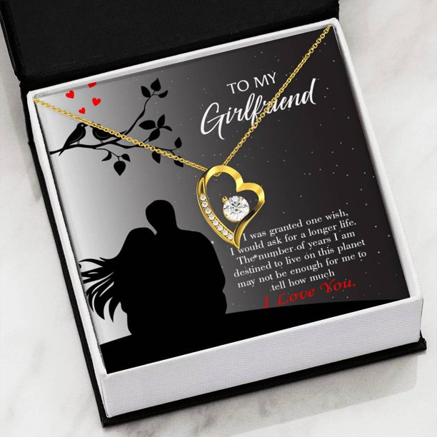 Express Your Love Gifts Girlfriend Birthday Gift Longer Life 18k Gold Or Stainless Steel 18 Necklace Girlfriend Gift Walmart Com Walmart Com