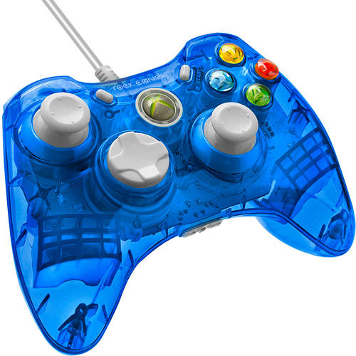 PDP Rock Candy Wired Controller for Xbox 360, Blueberry Boom