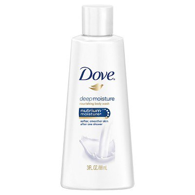 Dove Deep Moisture Body Wash Trial Size 3oz Walmart Com