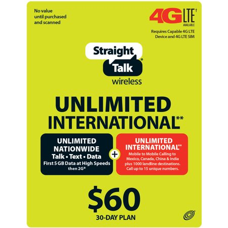 Straight Talk Unlimited Talk & Text with 500 MB of Data 30 Day Airtime Card