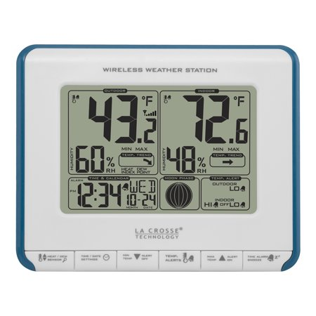 La Crosse Technology 308-1711 Wireless Weather Station with Heat Index and Dew