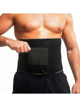 MERSARIPHY Sweat Waist Trimmer Stomach Wrap Belt Weight Loss Body Shaper