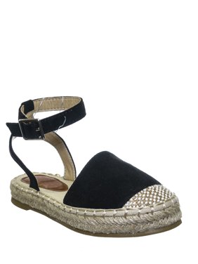 Expo09K by 7, Children Espadrille Backless Flatform - Girl Ankle Strap Braided Shoe