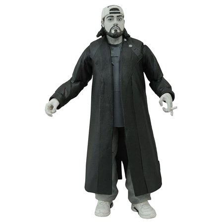 20th Anniversary Action Figure - Toys Clerks Select 20th Anniversary: Silent Bob Black and White Action Figure, A Diamond Select Toys release By Diamond Select