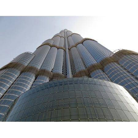 Canvas Print Skyscraper Dubai Tallest Building Burj Khalifa Stretched Canvas 10 x