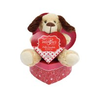 Heart Box with Dog Plush & Candy Valentines Gift
