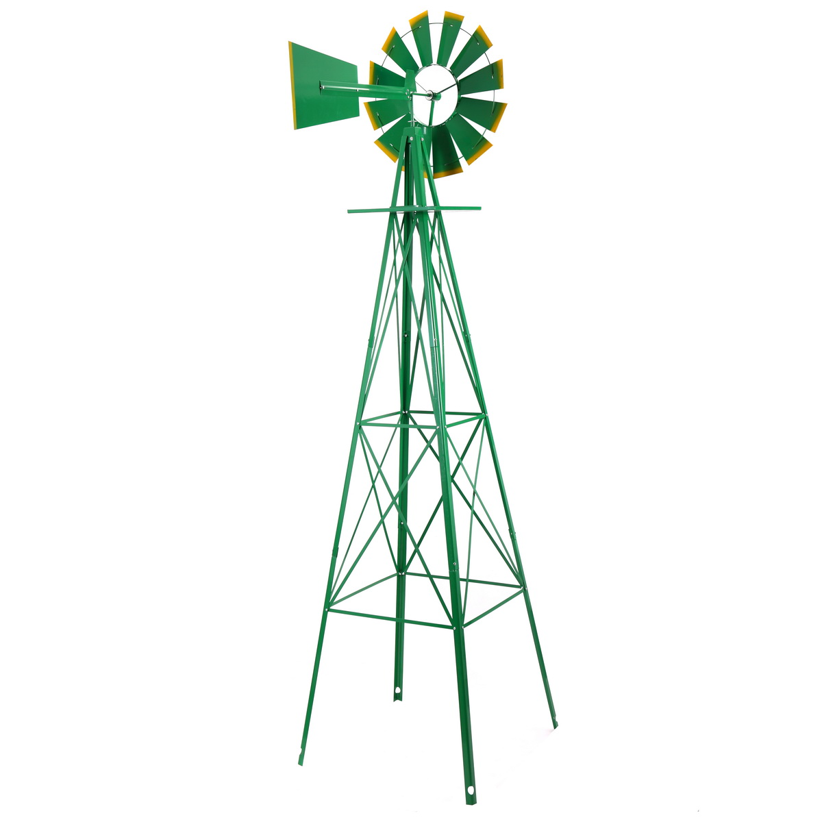Attractive Ornamental Garden Windmill,Weather Vane Weather Resistant Yard Decorative  Windmills (Green And