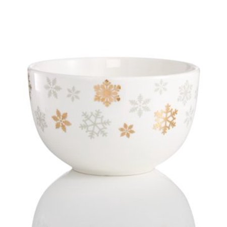 Martha Stewart Collection Collectible Snowflake Cereal Bowl - Halloween Dishes Martha Stewart