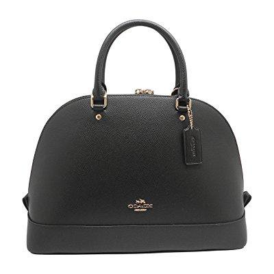 Coach Crossgrain Sierra Satchel   Black