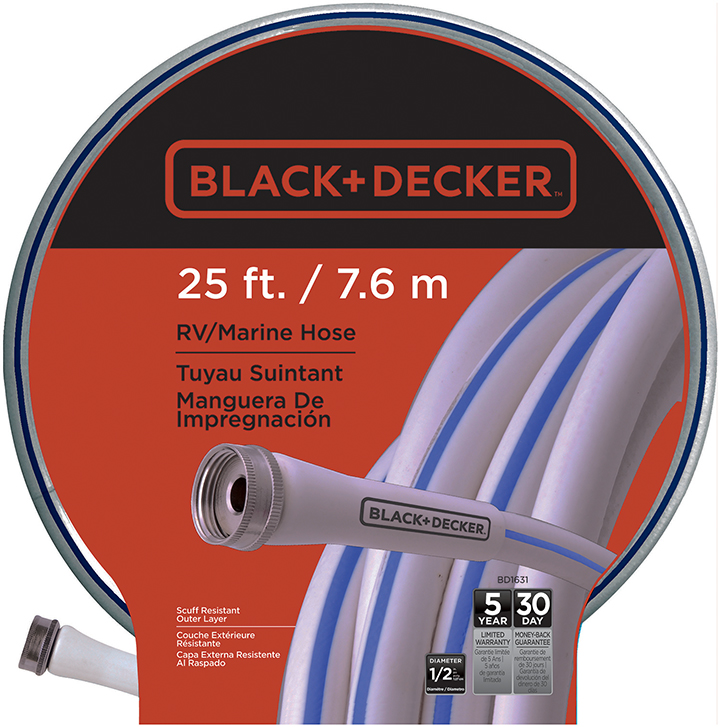 "BLACK & DECKER 1/2""X25' RV/MARINE HOSE-BD1631"